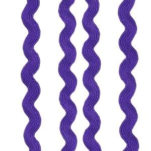 Ruban serpentine, 8mm, coloris Violet
