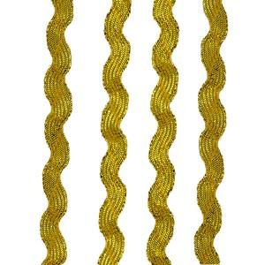 Ruban serpentine, 8mm, coloris Doré