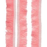 Passementerie Galon à franges sur tresse, coloris rose