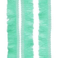 Passementerie Galon à franges sur tresse, coloris bleu celadon