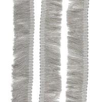 Passementerie Galon à franges sur tresse, coloris gris souris