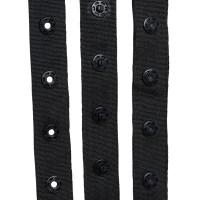 Pressions sur ruban polyester au mètre, coloris noir