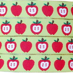 Ruban pommes, fond vert (x 50 cm!)