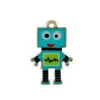 Perle robot en métal émaillé