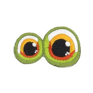 Ecusson thermocollant Yeux vert façon grenouille