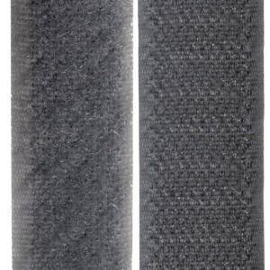 Velcro gris foncé, scratch ( x 50cm)
