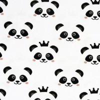 Jersey Panda, marque Stenzo, tissu bio (x 25 cm)
