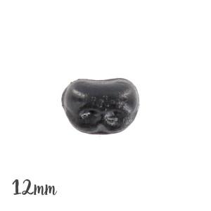 Nez sécurité Noir, motif animal, 12 mm pour peluche (lot de 2)