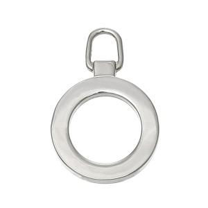 Tirette anneau pour fermeture eclair, coloris argent, à  l'unité