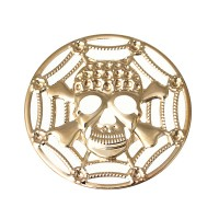 Grand pendentif Tête de mort, coloris or