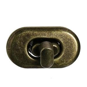 Fermoir bronze antique pour sac à main, verrou oval 37 mm x 21mm ModeleV