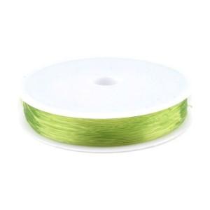 Bobine de 15m de fil élastique Translucide jaune de 0.6mm, en nylon