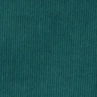 Tissu Velours cotelé milleraies, coloris canard colvert (x 50cm)