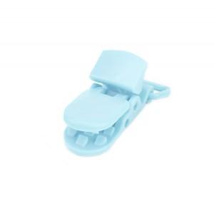 Pince attache Tétine plastique, coloris bleu ciel (2 pièces)