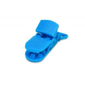 Pince attache Tétine plastique, coloris bleu roi (2 pièces)