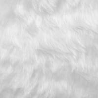Tissu fourrure poils longs blanc (x50cm)