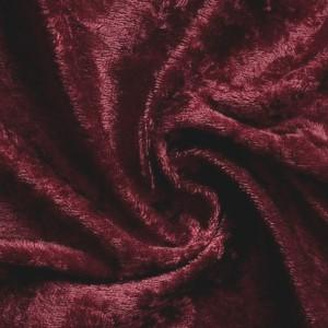 Tissu velours, coloris lie de vin (x 50 cm)