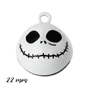 Grelot squelette Jack 22mm, grelot halloween, à l'unité