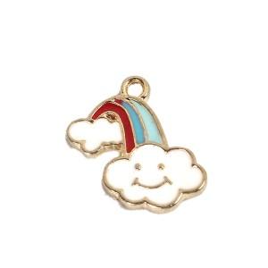 Perle arc en ciel, nuage souriant, lot de 2