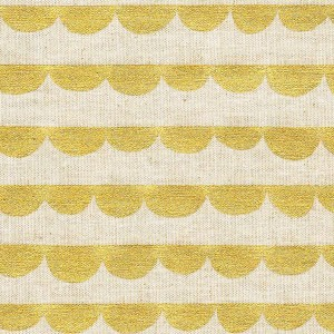 Tissu Half Round, by Kokka, coloris or ( x 25cm)