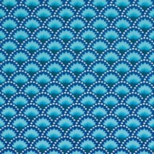 Tissu Wasabi Bleu, par Petit Pan (x50cm)