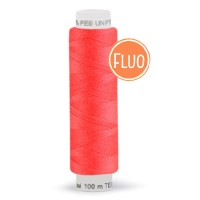 Bobine de fil rose corail fluo, 100m