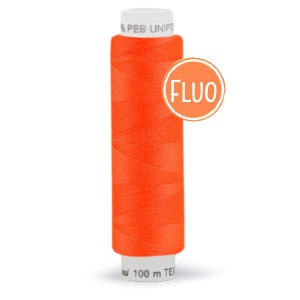 Bobine de fil orange fluo, 100m