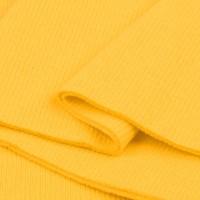Bord Côte, Jersey tubulaire, coloris jaune vif, coupon de 16x80cm