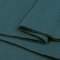 Bord Côte, Jersey tubulaire, coloris bleu canard, coupon de 16x80cm