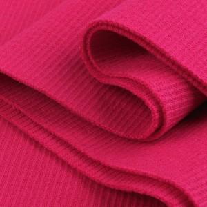 Bord Côte, Jersey tubulaire, coloris rose fuchsia, coupon de 16x80cm