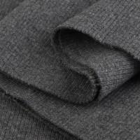 Bord Côte, Jersey tubulaire, coloris gris anthracite, coupon de 16x80cm