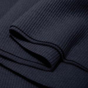 Bord Côte, Jersey tubulaire, coloris bleu nuit, coupon de 16x80cm