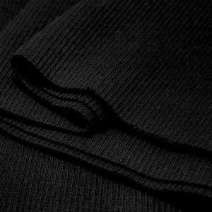 Bord Côte, Jersey tubulaire, coloris noir, coupon de 16x80cm
