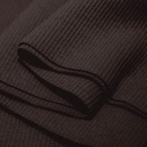 Bord Côte, Jersey tubulaire, coloris chocolat noir, coupon de 16x80cm