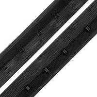 Agrafes sur ruban polyester au mètre, coloris noir