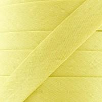 Biais coton citron givré, pré-plié 20mm, col005