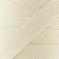 Biais coton beige papyrus, pré-plié 20mm, col006