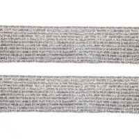Élastique plat argenté lurex, 20 mm