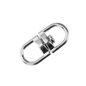 Boucle connecteur pivotant, métal, 9mm argent (lot de 4)