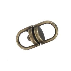 Boucle connecteur pivotant, métal, 9mm coloris bronze (lot de 4)
