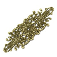 Grande estampe travaillée, losange armoirie, coloris bronze antique