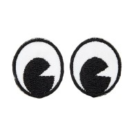 Ecusson thermocollant Yeux noirs, Cartoon