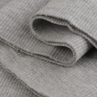 Bord Côte, Jersey tubulaire, coloris gris clair chiné, coupon de 16x80cm