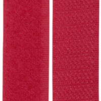 Velcro rouge cerise, scratch ( x 50cm)