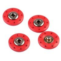 Pressions rond à coudre 20mm, coloris rouge (lot de 2)