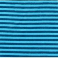 Chute de 40cm Velours de bambou rayé bleu