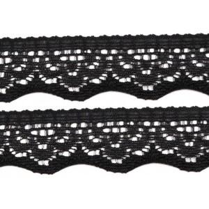 Elastique dentelle, coloris noir, 20mm