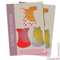 Pochette Papier du Patron de couture : la turbulette Kokoon,  3 patrons en 1
