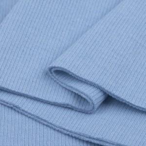 Bord Côte, Jersey tubulaire, coloris bleu ciel, coupon de 16x80cm