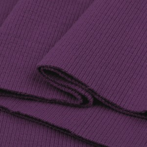Bord Côte, Jersey tubulaire, coloris violet, coupon de 16x80cm